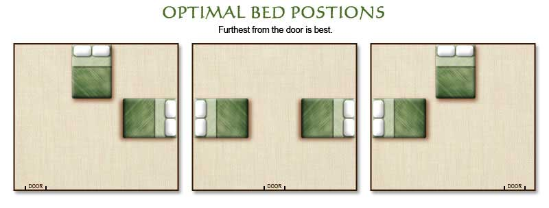 bed placement bed feng shui good
